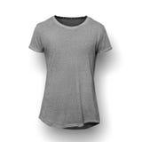 T-shirt gris d'isolement sur le fond blanc photographie stock libre de droits