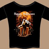 T Shirt with Halloween Zombie Graphic Stock Photo