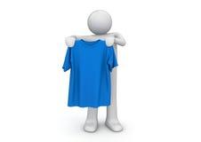 T-shirt in handen - Levensstijl Royalty-vrije Stock Foto's