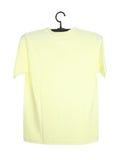 T-shirt on hanger isolated on white Stock Photo