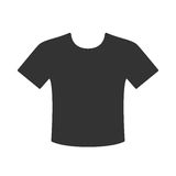 T-shirt icon. Black t-shirt icon isolated on white background Stock Images