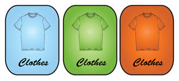 T-shirt icons Stock Images