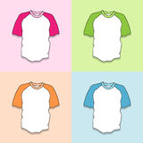 T-shirt icons set great for any use. Vector EPS10. Royalty Free Stock Photos