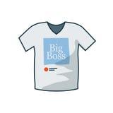 T-Shirt Ikone in der Karikaturart Lizenzfreies Stockbild
