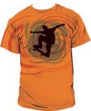 T shirt  illustration. Illustration of skater on t-shirt Royalty Free Stock Photography