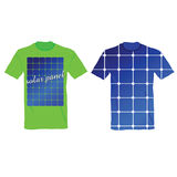T-shirt with an illustration of solar panels Stock Images