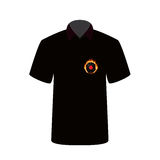 T-shirt with the image of fire and vinyl. Vector Illustration. EPS10 Royalty Free Stock Photos