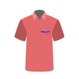 T-shirt with the image of Lip. Vector Illustration. Stock Photo