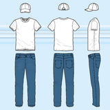 T-shirt and jeans set Royalty Free Stock Photo