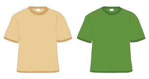 T-shirt khaki and green Stock Image