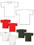 T-shirt layout back and front Royalty Free Stock Photos