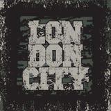 T-shirt Londres, Long Island, projeto do esporte, forma de Londres Foto de Stock Royalty Free