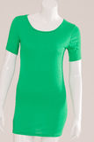 T-Shirt long green Stock Image