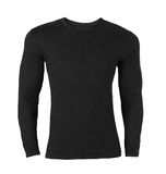 T-shirt long-sleeved preto foto de stock royalty free