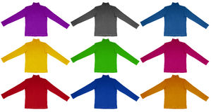 T-shirt with long sleeves - colorful Stock Image