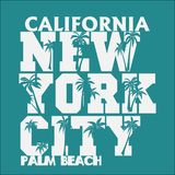 T-shirt Los Angeles Californië, t-shirtzegel, atletisch kledingsontwerp vector illustratie