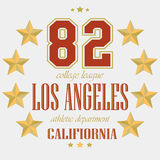 T-Shirt Los Angeles-Sport-Team Stockfoto