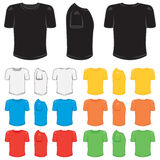 T-shirt male. Graphic male t-shirt in a variety of basic colors Stock Photography
