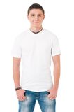 T-shirt on man Royalty Free Stock Photography