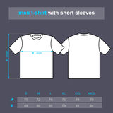 T-shirt men with short sleeves. Stock Photo