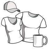 T-shirt men and women. Stock Photo