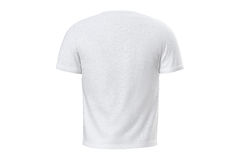 T-shirt mens textile, back view Royalty Free Stock Images