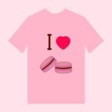 T-shirt met makaronbeeld Stock Afbeelding