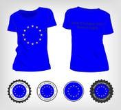 T-Shirt mit der Flagge der Europäischer Gemeinschaft Lizenzfreies Stockbild