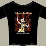 T-Shirt mit Halloween-Rockmusik-Show-Grafik Lizenzfreie Stockfotografie