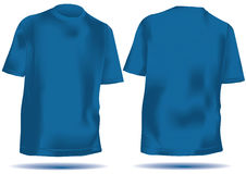 T-Shirt mit Ineinander greifenfrontseite und -rückseite im Blau