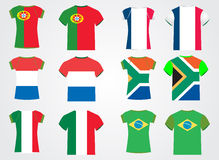 T-Shirt mit Staatsflaggen Lizenzfreies Stockbild