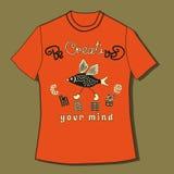 T-Shirt mit Zitat Lizenzfreie Stockfotografie
