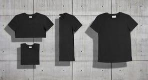 T-shirt mockup set royalty free stock photography