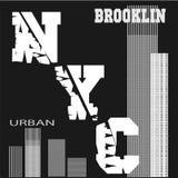 T-shirt New York ilustração stock