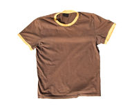 T-shirt no fundo branco Foto de Stock
