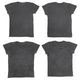 T-shirt noir blanc Photo stock