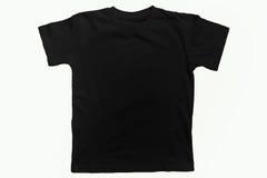 T-shirt noir de coton photos stock