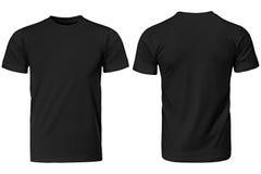 T-shirt noir, vêtements Photographie stock libre de droits