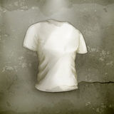 T-shirt, old-style. Computer illustration on gray background Royalty Free Stock Images