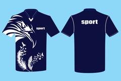 T-shirt ontwerp-01 rooster & vector stock illustratie