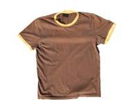 T-shirt op witte achtergrond Stock Foto