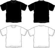 t-shirt outline Royalty Free Stock Images