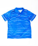 T-shirt polo blue Royalty Free Stock Photos