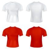 T-shirt pour le vecteur des hommes Photographie stock