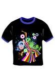 T-shirt preto com cópia Foto de Stock Royalty Free