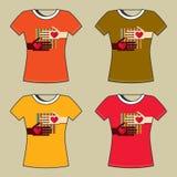 T-Shirt Print Stock Images