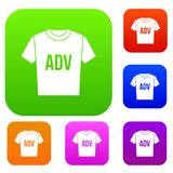 T-shirt with print ADV set collection Royalty Free Stock Photos