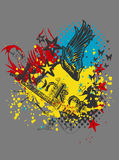 T-Shirt Print ARTWORK Royalty Free Stock Photography