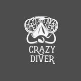 T-shirt print. Crazy diver. Stock Photography