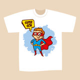 T-shirt Print Design Superhero Son Royalty Free Stock Images